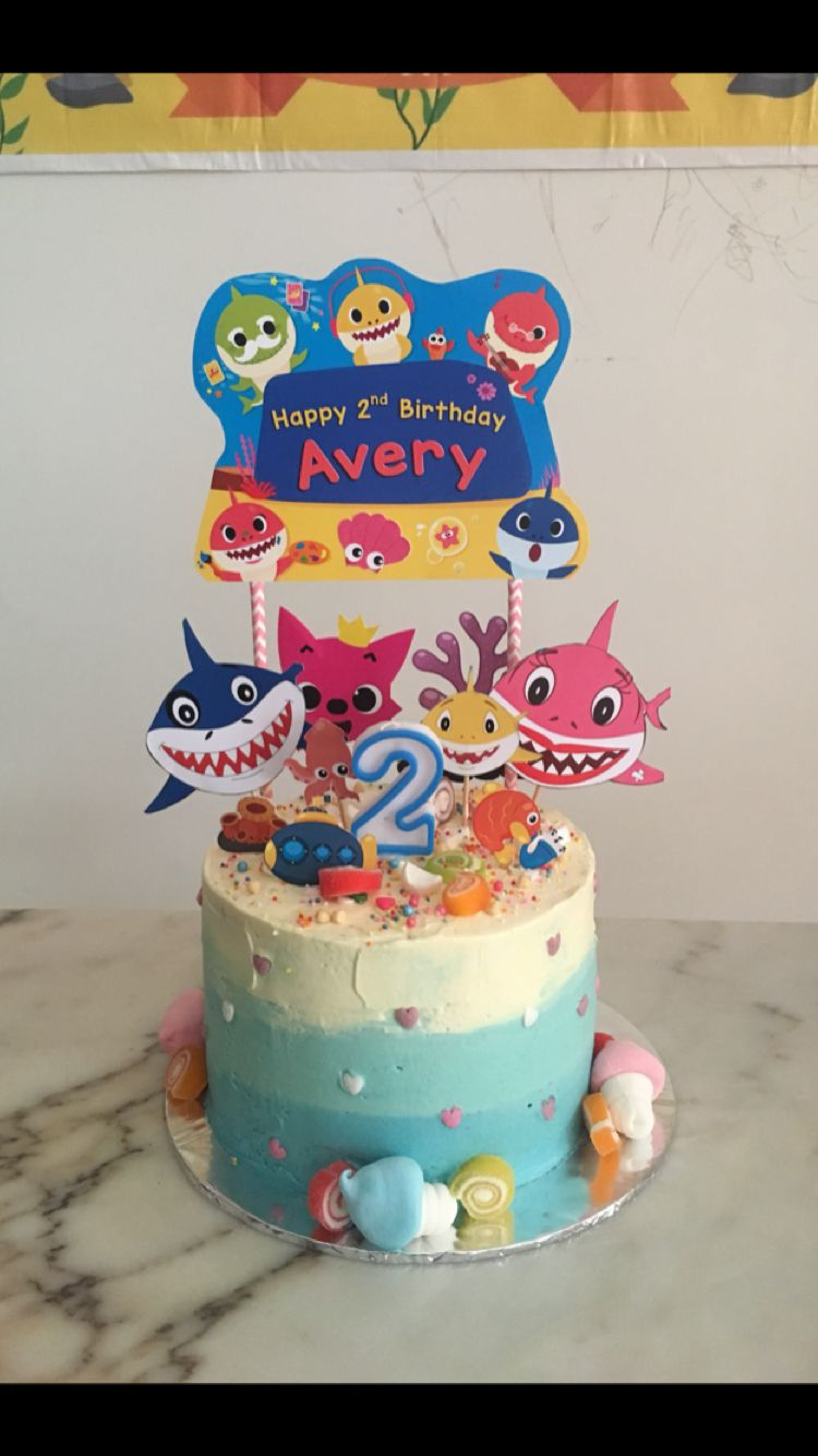 Baby Shark Birthday Cake For Avery S 2nd Birthday Shark