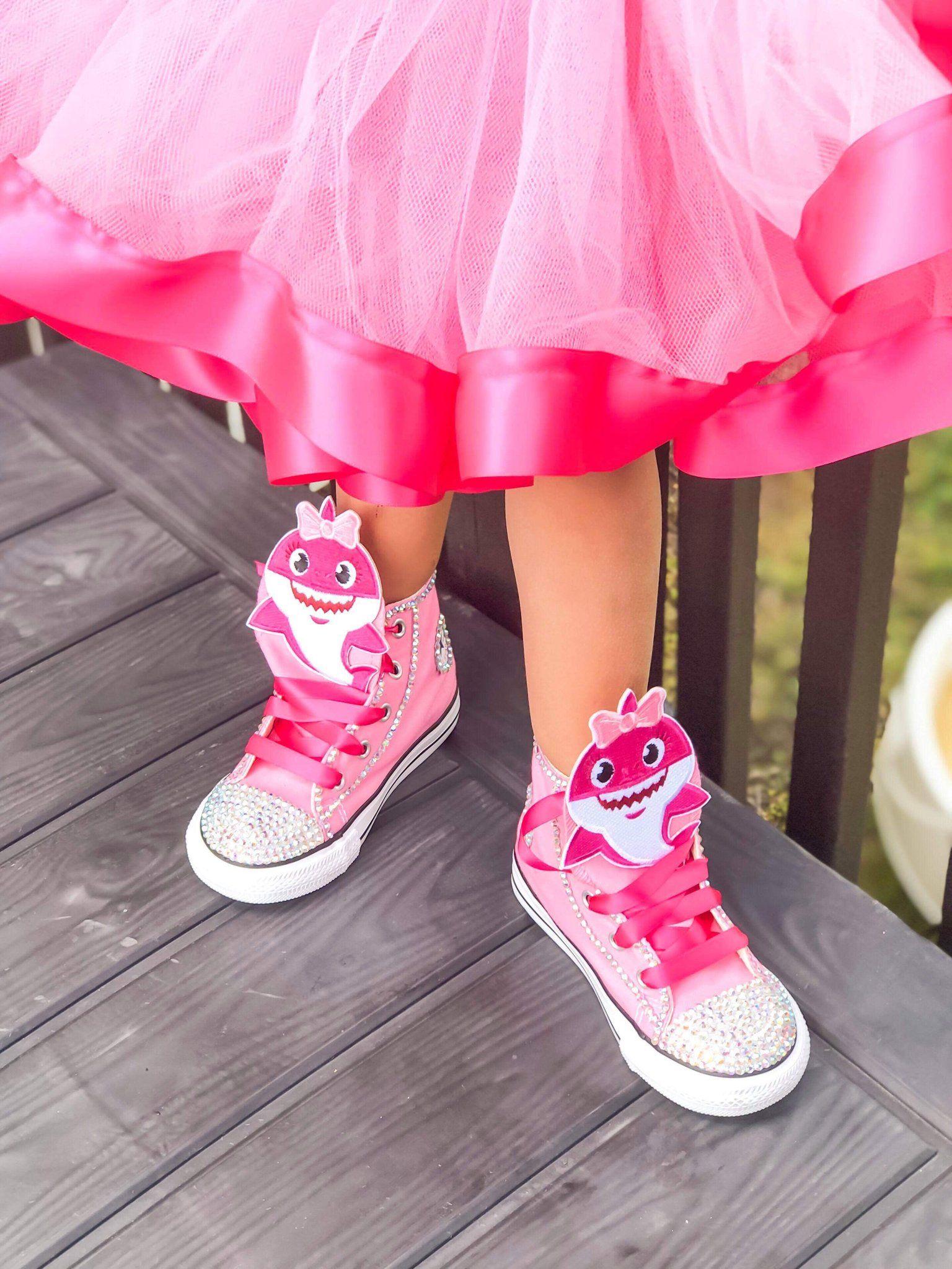 Pink sneakers, Pink converse, Baby shark