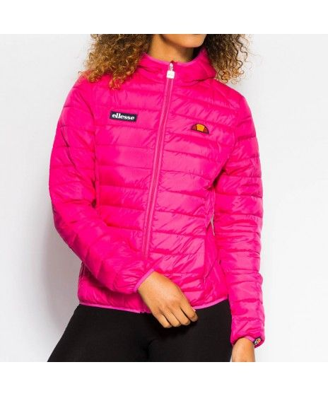 fa1a0f652d Womens Ellesse Lompard Magenta Padded Jacket | Clothes | Ellesse ...