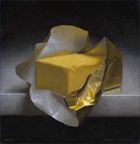 Conor Walton: Butter   oil on linen   36 x 54 inches  2011   private collection