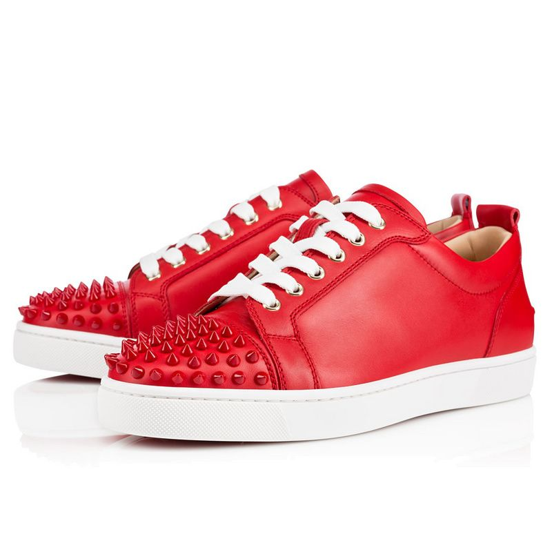 cheap for discount fd9a3 d4668 Christian Louboutin Louis Junior Spikes Mens Flat Leather ...