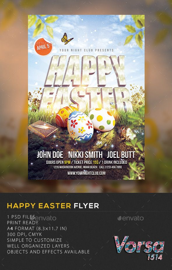 Happy Easter Flyer  Template Flyer Template And Flyer Printing