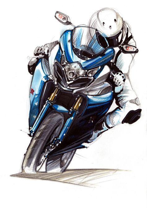 Marker Pencil Sketches Rakesh Das Motos Dibujos Motos Para Dibujar Arte De Motocicletas