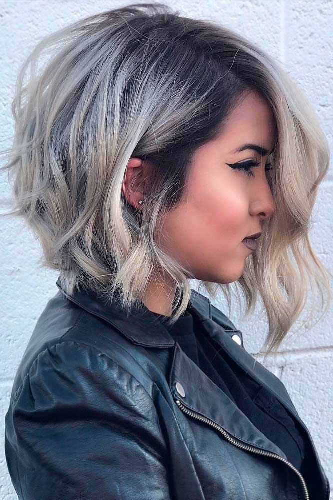 Short Wavy Hair We Will Help You To Pick The Most Flattering Haircut Lovehairstyles Haircuts Hairideas Thick Hair Styles Short Wavy Hair Bob Hairstyles