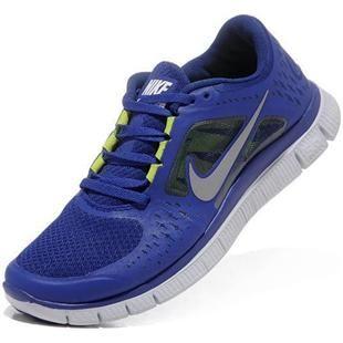Mens Nike Free Run+ 3 Blue White Shoes | Mens Nike Free Run+