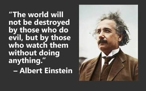 Apathy The World Will Not Just Be Destroyed By Those Who Do Evil Simple Apathy Quotes