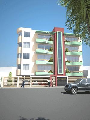 Fachadas de casas en edificio de departamentos en esquina for Fachadas hoteles minimalistas