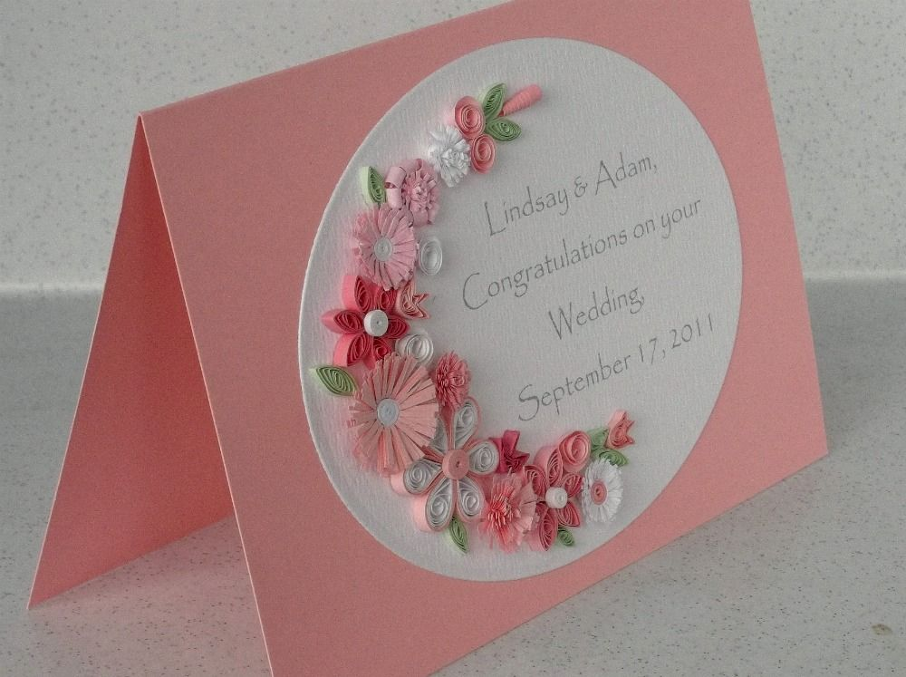 Quilling Patterns for Cards Quilled wedding cards Quilling