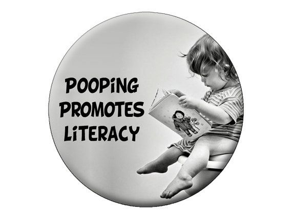 Reading Baby Magnet Pooping Promotes Literacy By Psychedelictara 3 99 Funny Quotes Baby Reading Book Lovers