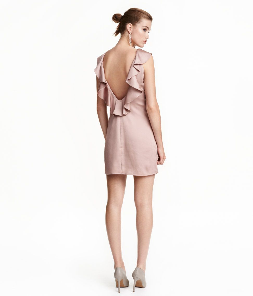 Ruffled Satin Dress | Party in H&M