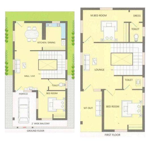 25 X 40 Feet House Plan In 2019