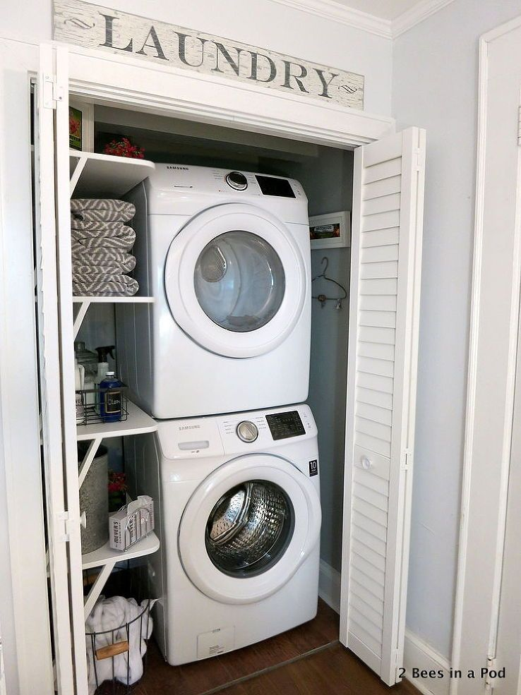 Photo of Small Space Solution – Laundry Closet Makeover