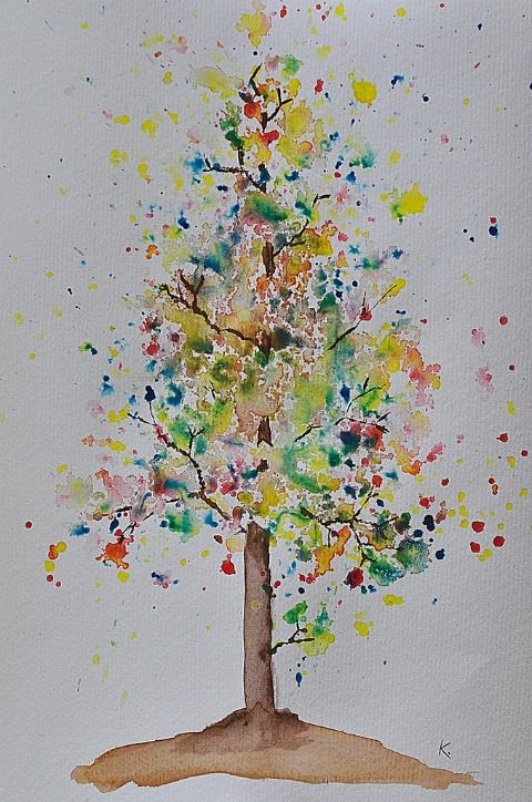 Good Things From Nice People Tree Art Watercolor Trees Art