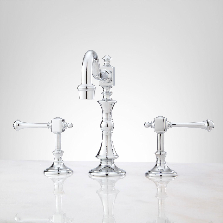 Vintage Widespread Bathroom Faucet - Lever Handles | Widespread ...