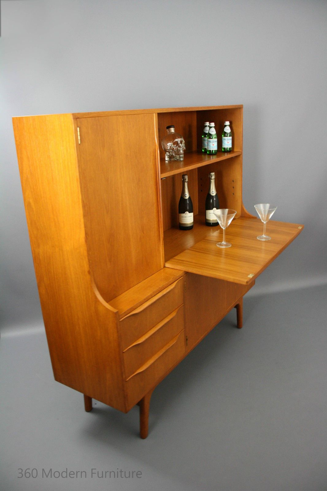 MID Century Noblett Sideboard Desk BAR Cabinet Shelves Vintage Retro Danish  Parker ERA In VIC 360
