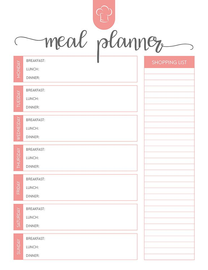 Free Printable Meal Planner Set The Cottage Market Weekly Meal Planner Template Meal Planner Printable Free Meal Planner Printable