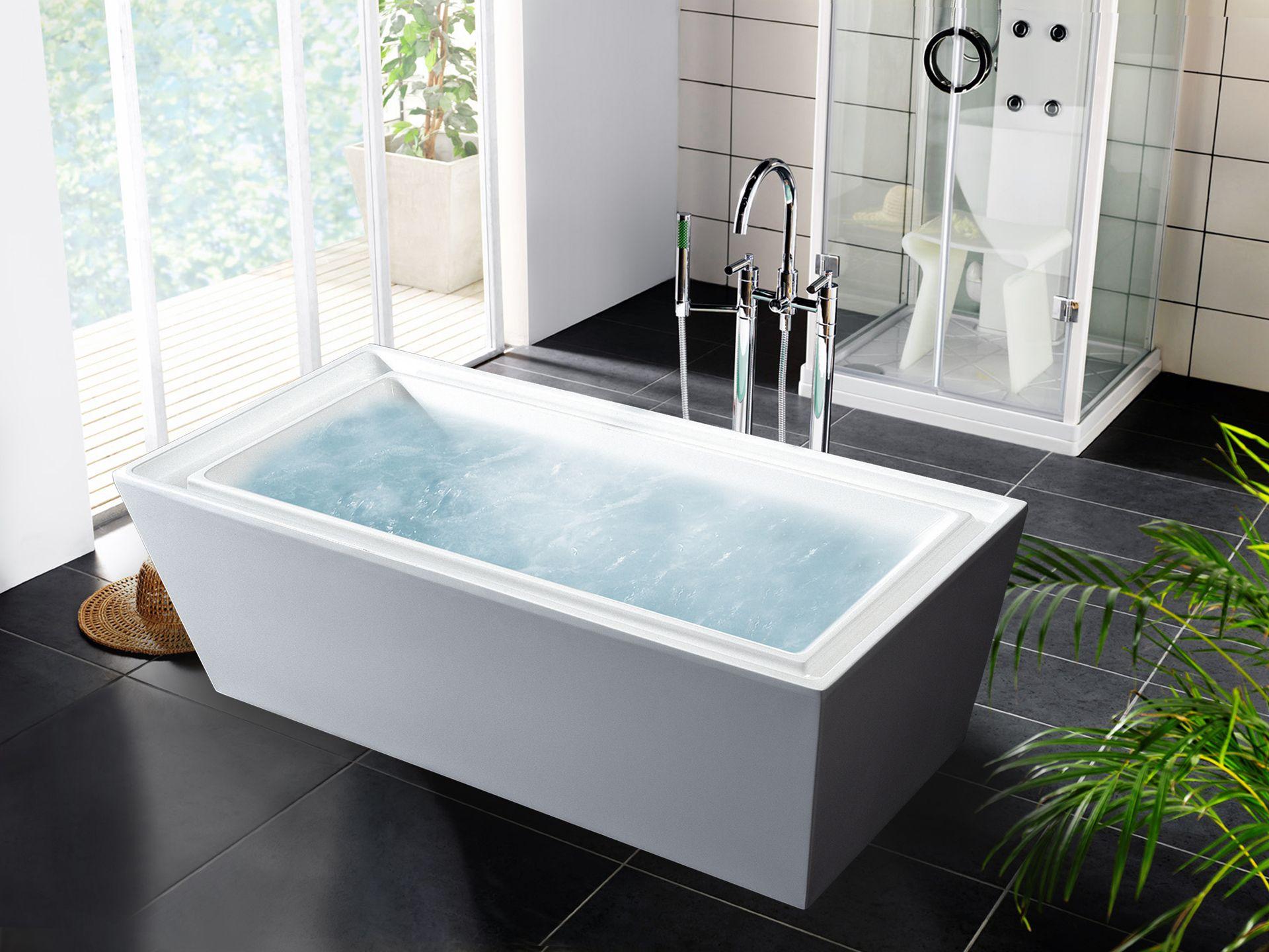 Aquatica PureScape 040 Freestanding Acrylic Bathtub (Dimensions: in. H),  White, Size 66 to 71 inches