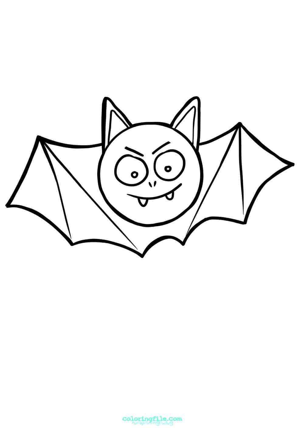 Easy Halloween Bat Coloring Pages Bat Coloring Pages Halloween Coloring Pages Halloween Coloring