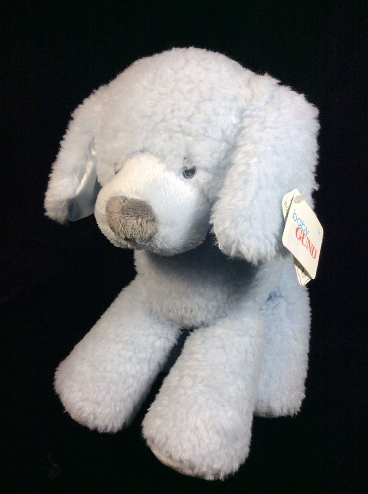 Baby Gund Fluffey Blue Dog Plush New Soft Toy Stuffed Animal 10