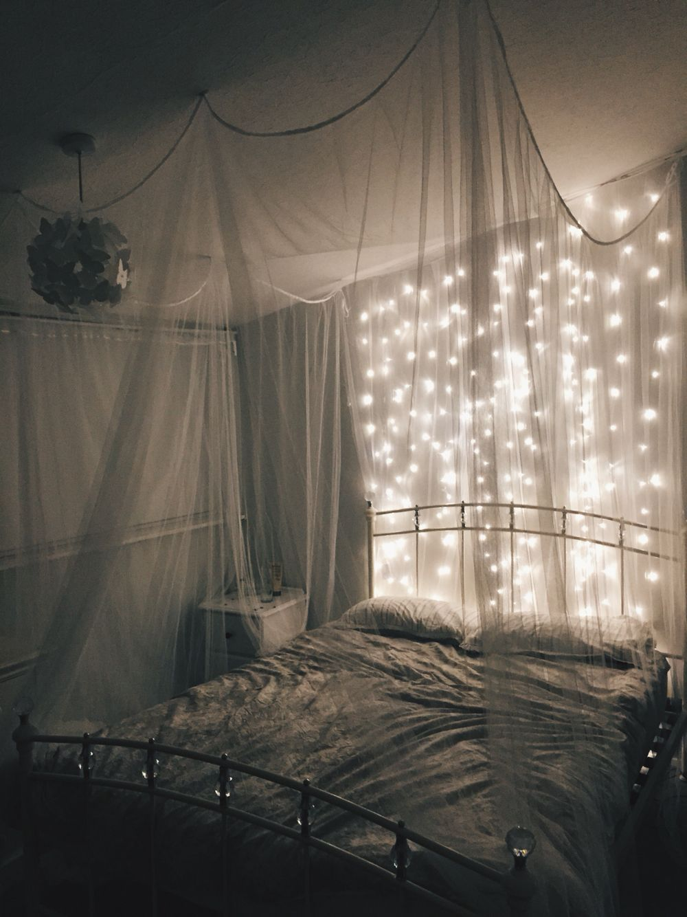 My Dreamy Bedroom Bedroom Decor Lights Romantic Bedroom Lighting Relaxing Bedroom Romantic bedroom lighting ideas