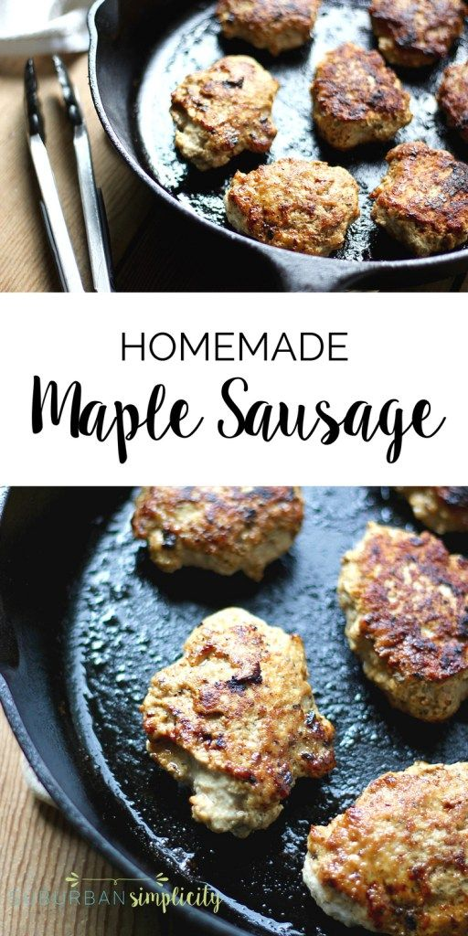 This easy Maple Sausage recipe is a perfect healthy meal idea for your family. It's preservative free, freezer-friendly and tastes amazing!