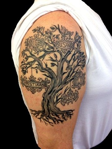 167b2756f4859 tree tattoo upper arm - Google Search | TATOO | Tree sleeve tattoo ...