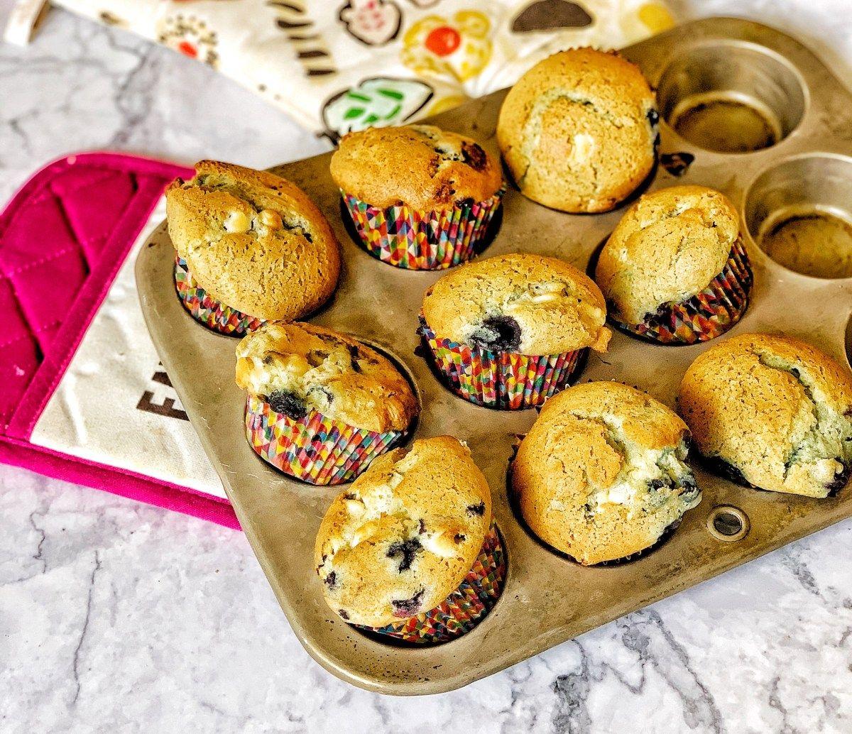 Blueberries and cream muffins from christina tosi milk