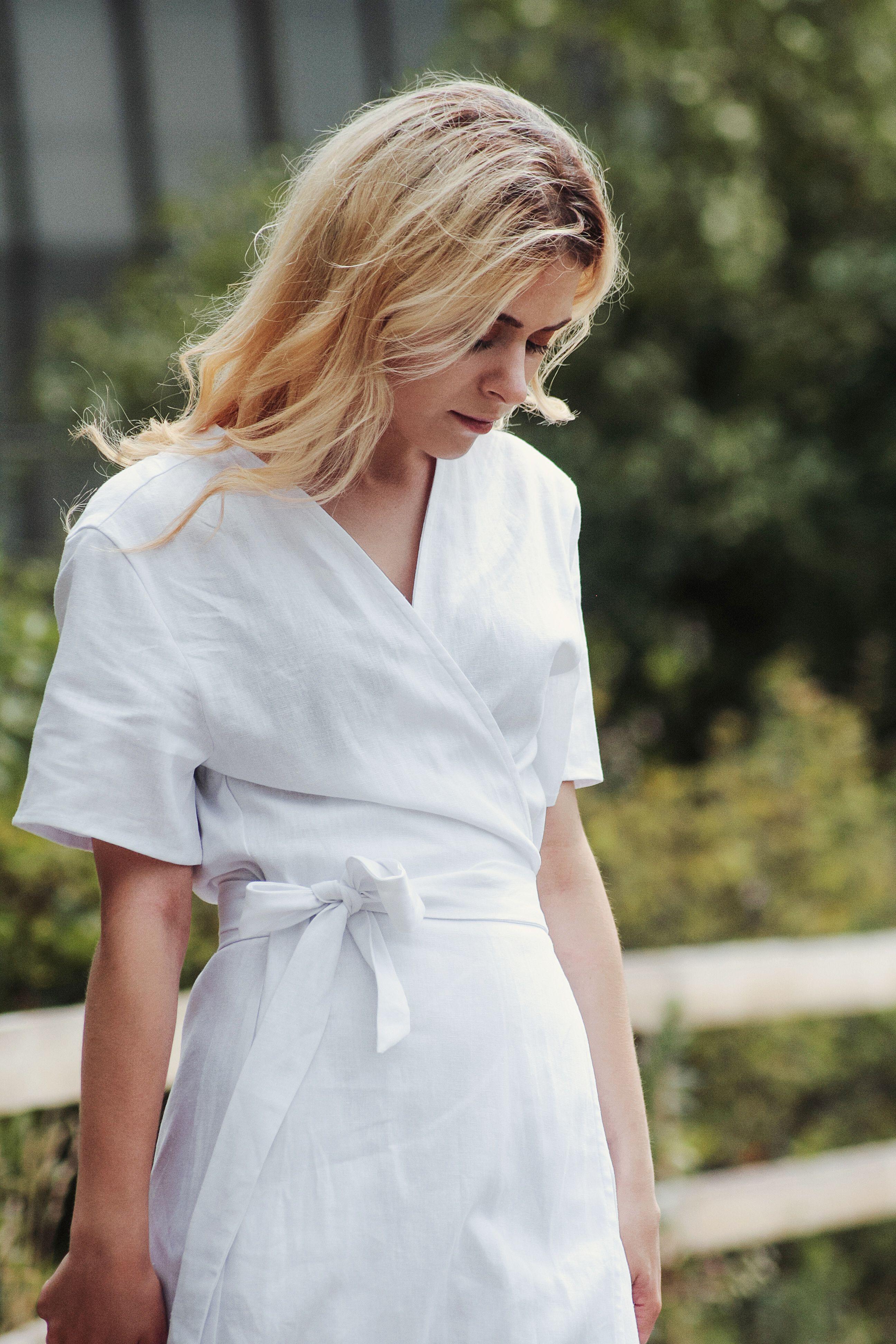 Linen Wedding Dress White Linen Dress Linen Dresses Wrap Linen Dress Bridesmaid Dress Linen Dresses For Women Boho Dress In 2020 White Linen Dresses Linen Dresses Dresses