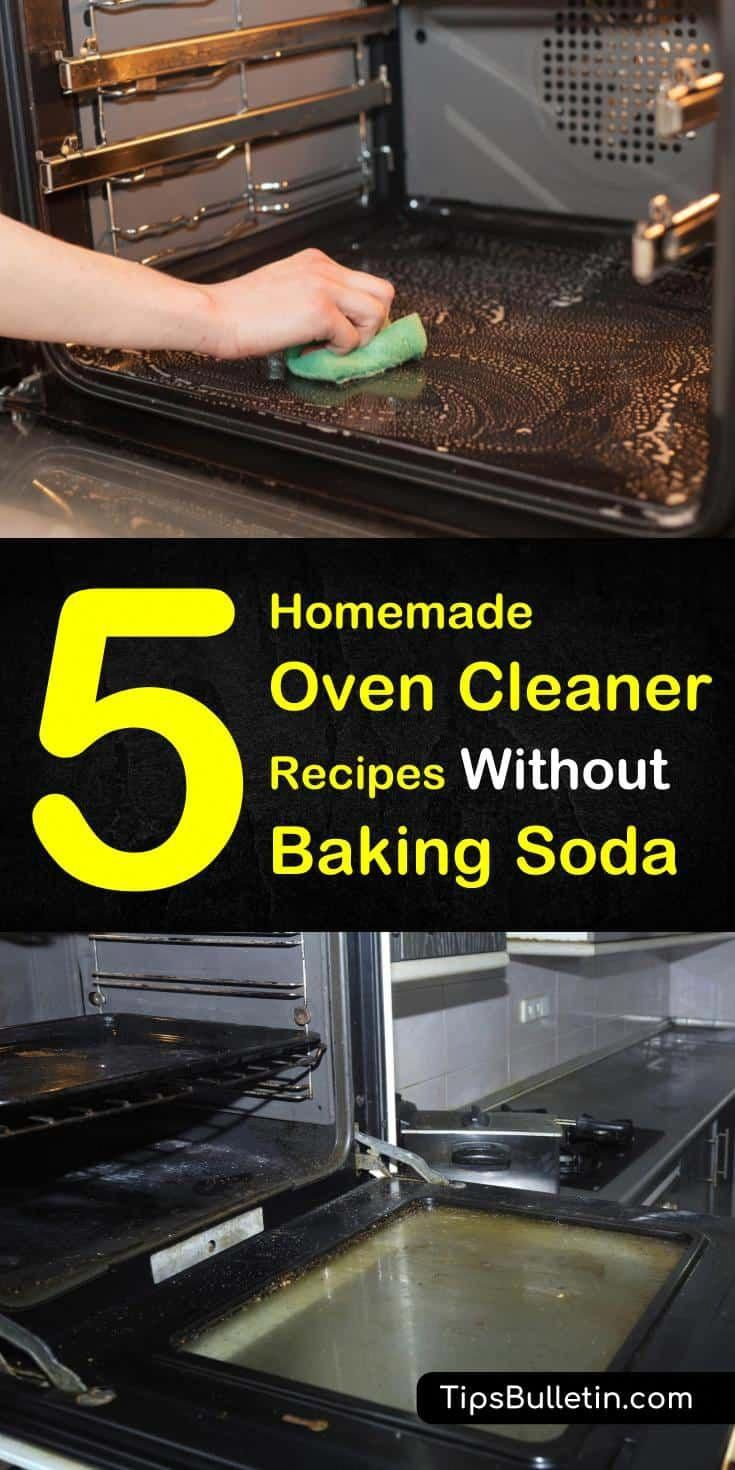 Create a homemade oven cleaner without baking soda recipe