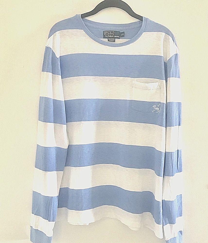 b9c1048a3aeb Details about Men s Ralph Lauren Polo Crewneck Shirt Cotton Light ...