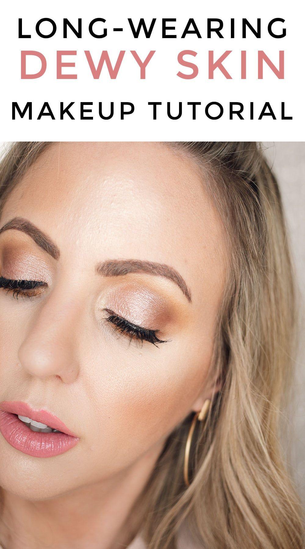 Spring Makeup Look Dewy Skin Glossy Lips Skin Makeup Dewy