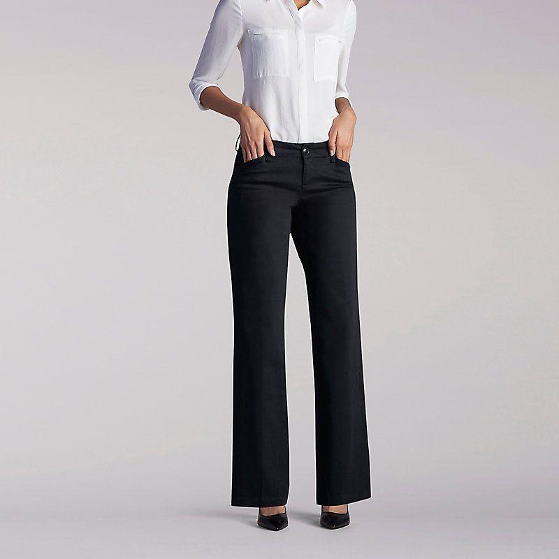 a598ddf3 Lee Women's Curvy Fit Maxwell Trouser - Modern Series Pants (Size 16 Slim)