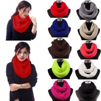 HDE Womens Knit Warm Winter Infinity Circle Cowl Scarf Shawl