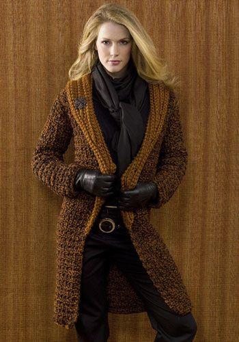 NaturallyCaron.com :: St. Petersburg Coat...free pattern | Clothing ...