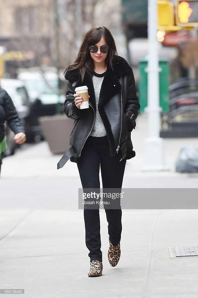 Dakota Johnson seen in Greenwich Village on April 9 2015 in New York... News Photo | Getty Images