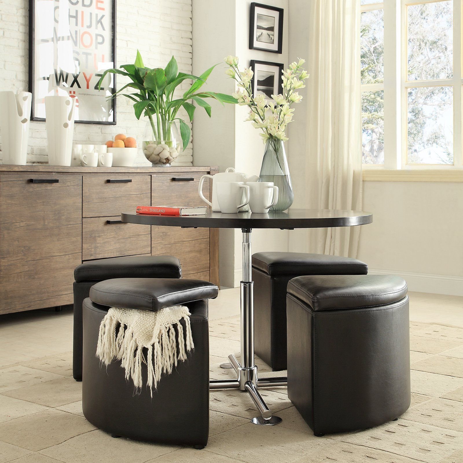 Have to have it. Homelegance Rowley 5-Piece Gas Lift Table Dining ...