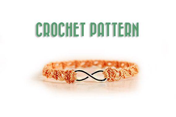 bracelet pattern - Crochet pattern - jewelry pattern - diy gift ...