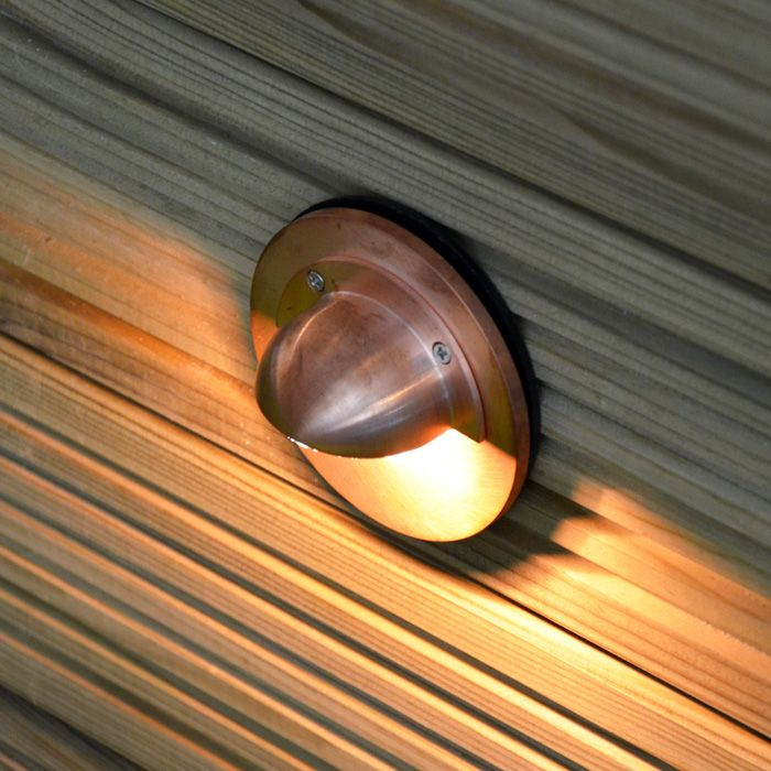 Caverna In Wall Light Step Light Natural Copper GU10 240v Outdoor