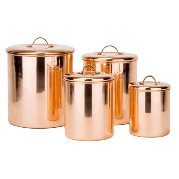 Copper Canisters For The Kitchen Kitchen Pinterest Kupfer And