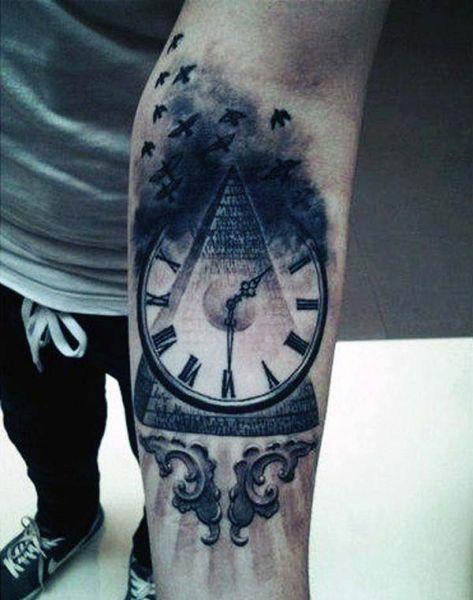 Tatuaże Zegary Zegaryklepsydryczachy Tatuaże Tatuaż I