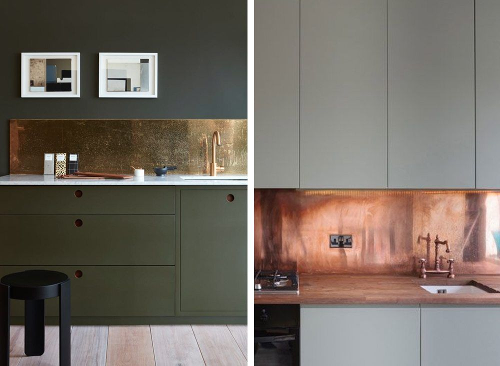 Stänkskydd i köket – marmor, kakel, koppar, mässing och betong ...