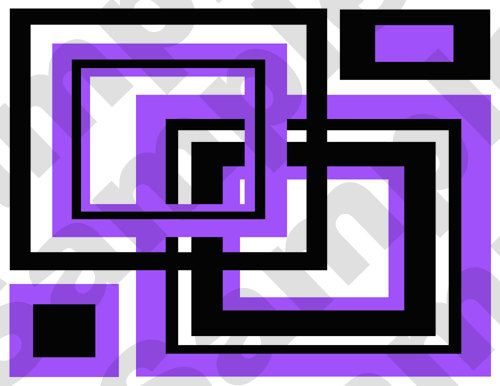 PURPLE SQUARES teen girls room abstract wall border decals by ...
