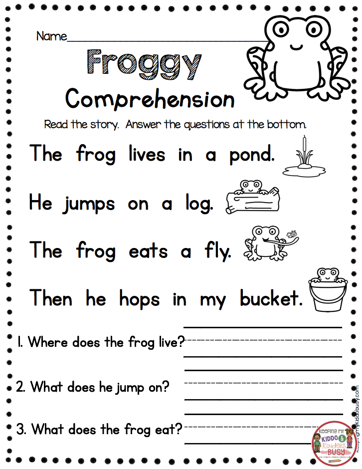 FREE PRINTABLES Kindergarten Reading Passage With Comprehen… Reading  Comprehension Kindergarten, Kindergarten Reading Worksheets, Reading  Comprehension Worksheets