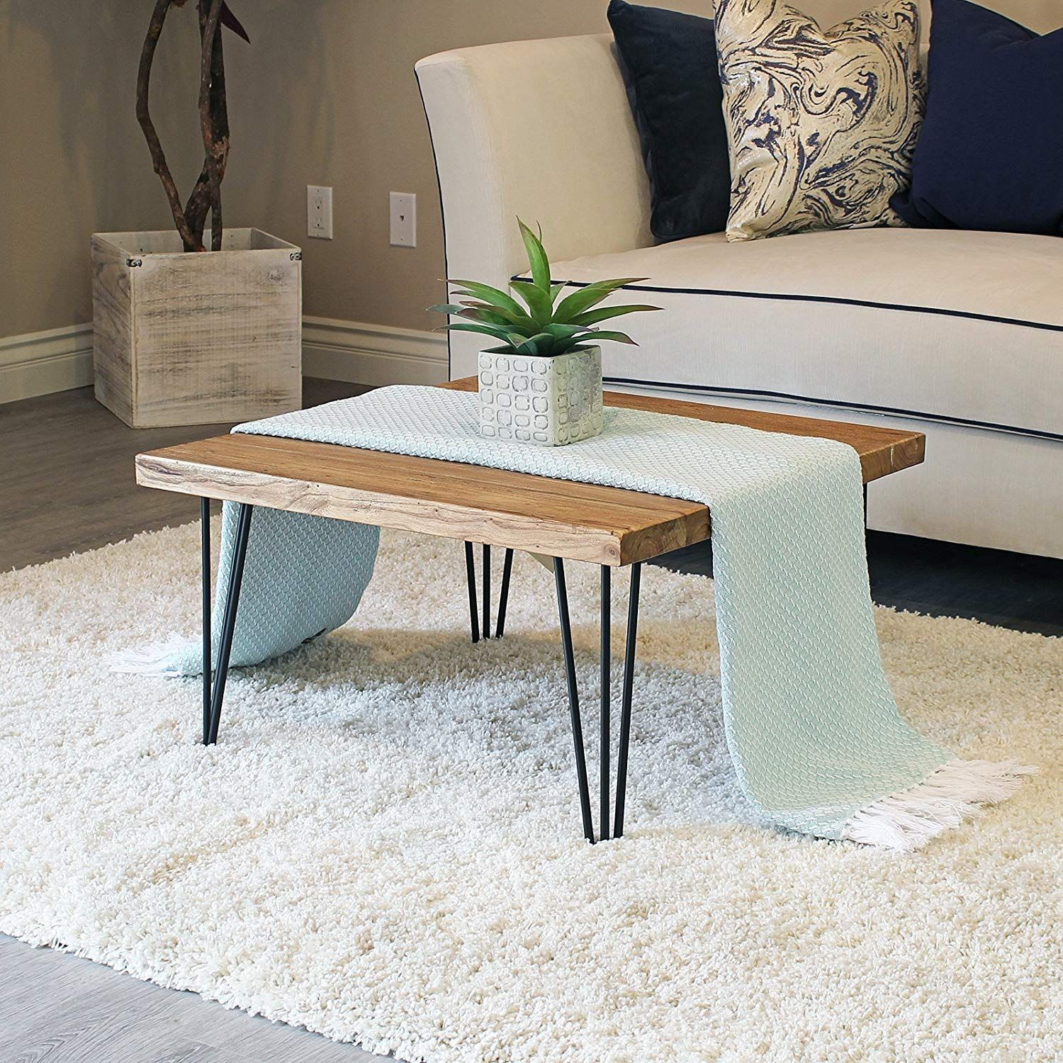 Hairpin Legs For Coffee Table Diy Coffee Table Wood Elm Coffee Table Round Wood Coffee Table [ 1500 x 1500 Pixel ]