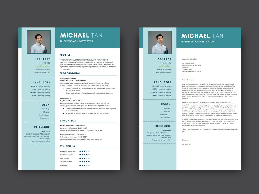 Free business administrator resume template resume