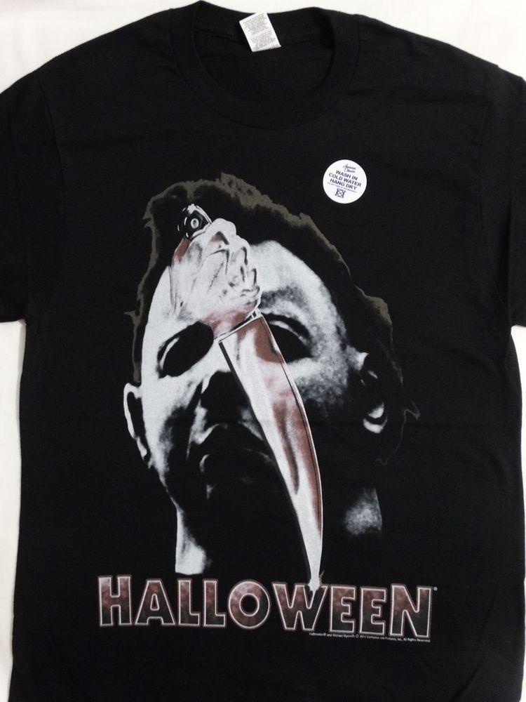 2373b39d3cc Michael Myers Halloween Movie Mask and Knife T-Shirt  Halloween  TShirt
