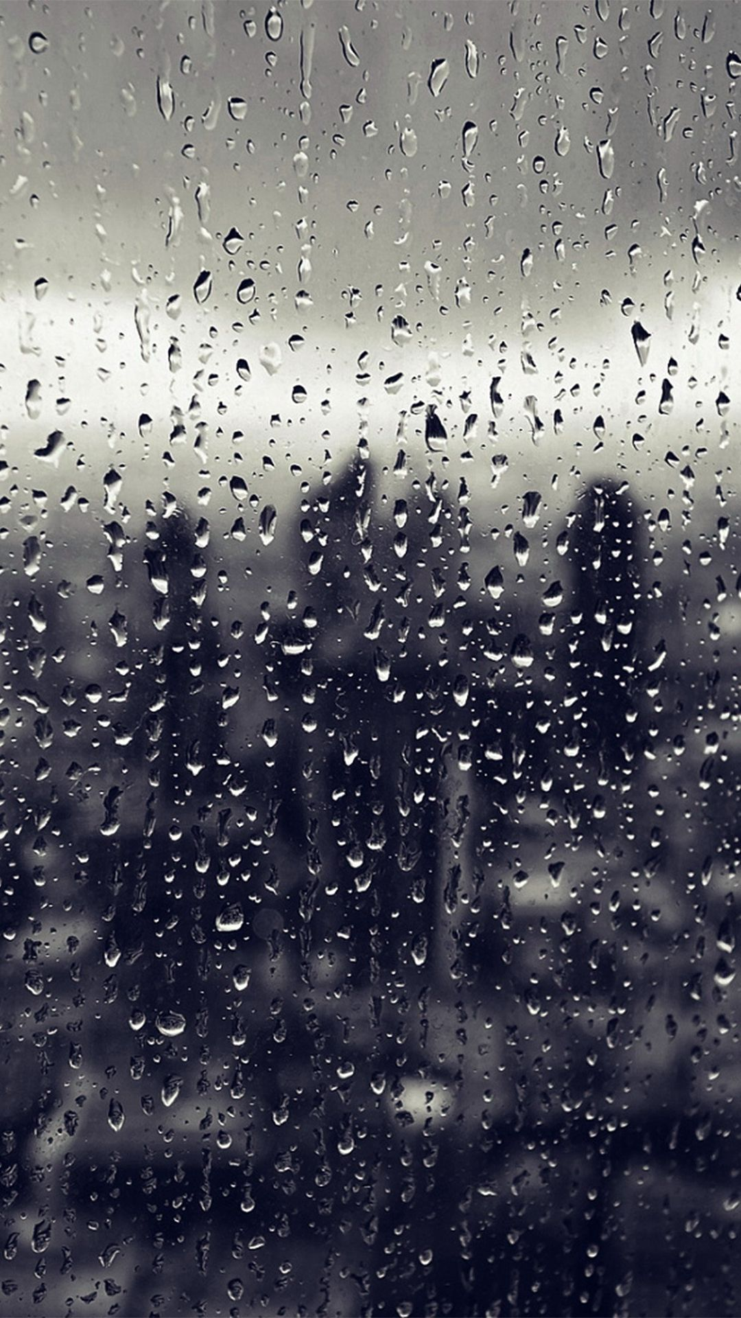 Rain Window Nature Pattern Blue IPhone 6 Wallpaper