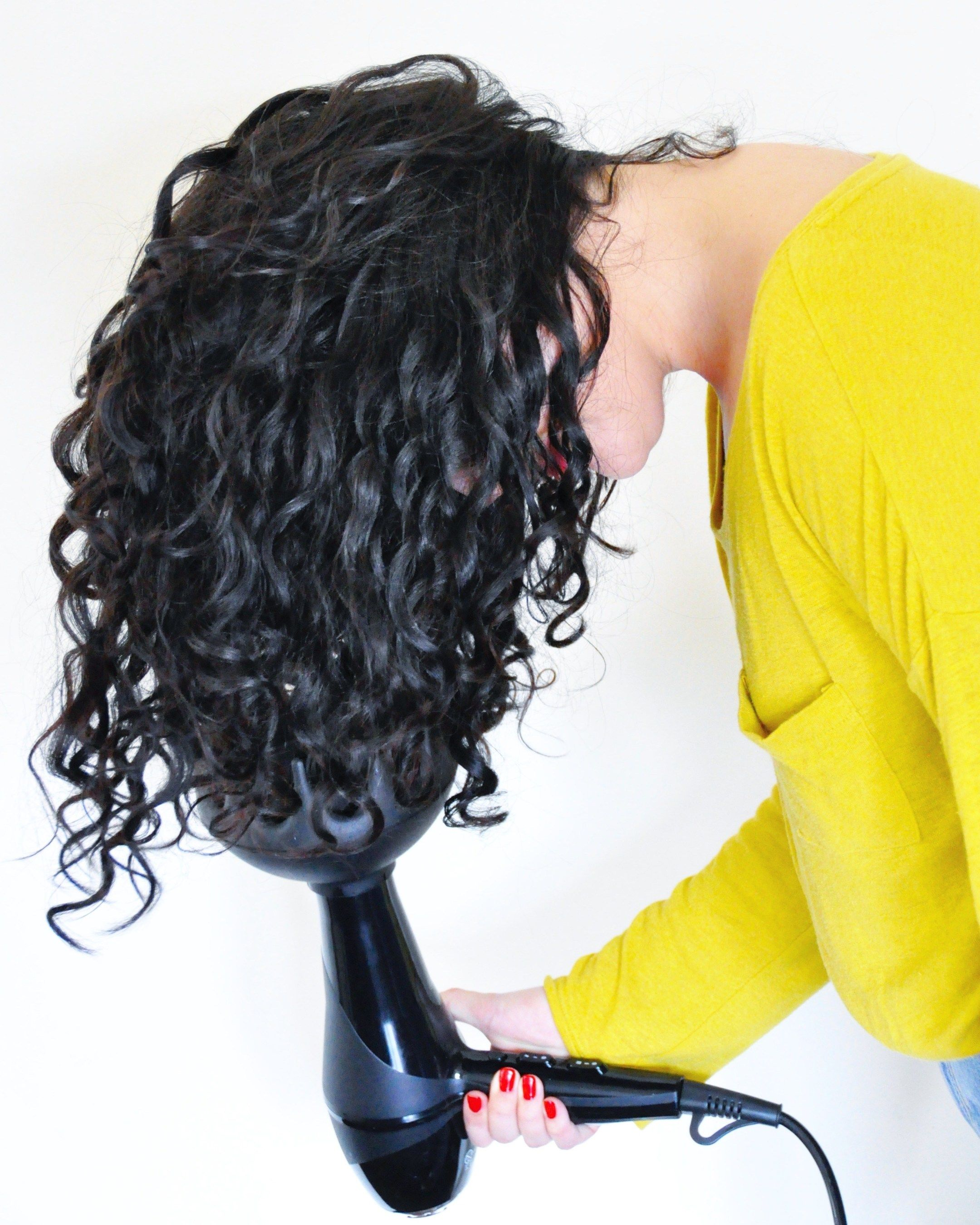 How To Diffuse Curly Hair » J, Tay, and Little A