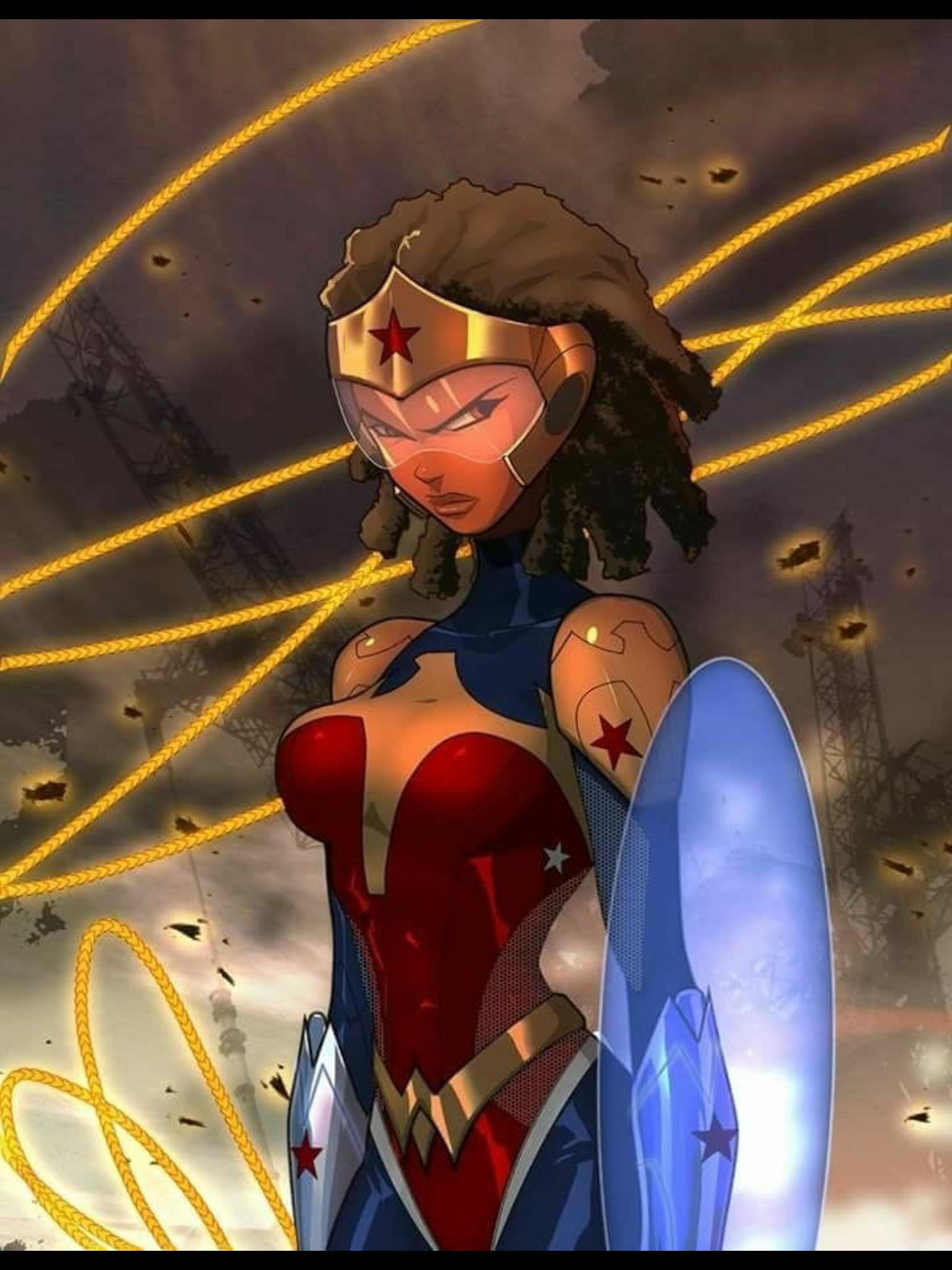 Wonder Woman Wonder Woman Art Superhero Art Black Love Art