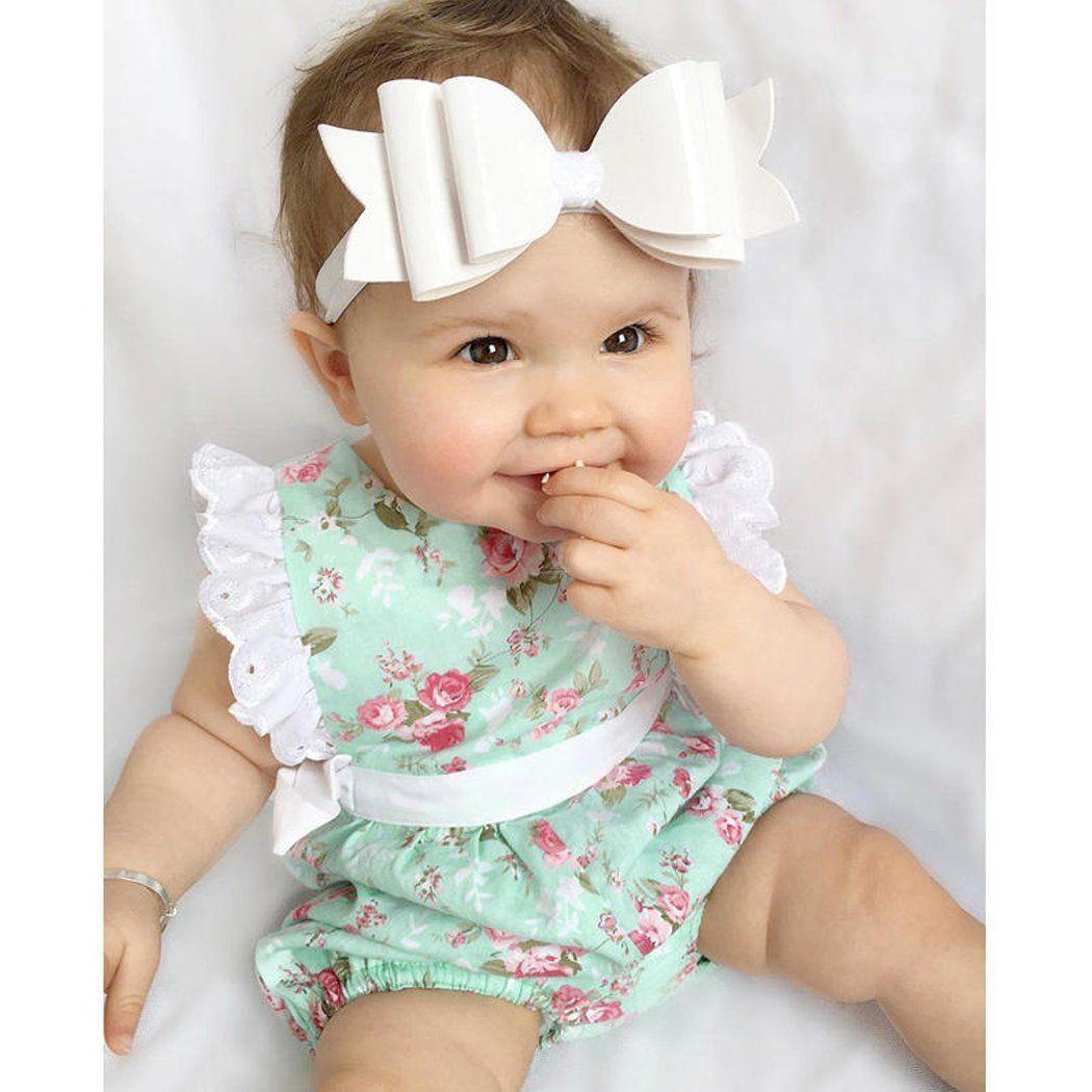 2017 Cotton Newborn Baby Boys Girls Clothes Bodysuit Jumpsuit
